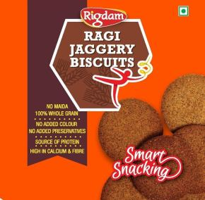 Ragi Jaggery Biscuits by Rigdam