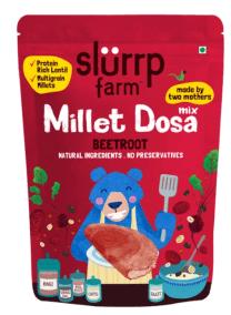 Millet Beetroot Dosa by Slurrp Farm