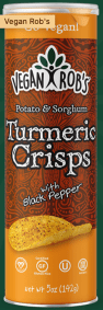 Sorghum Turmeric Crisps by Vegan Rob's