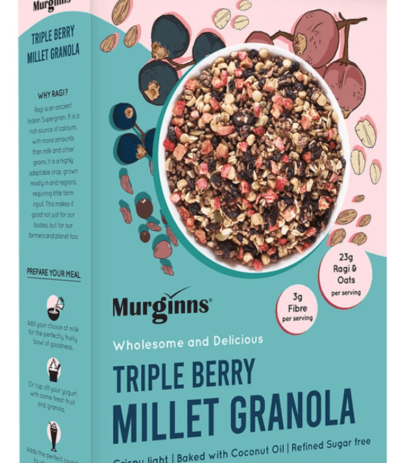 Triple berry millet granola by Murginns