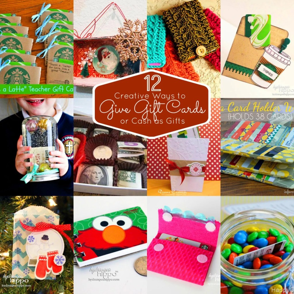 12 Unique Ways to give gift cards - get creative giving gift cards and money. DIY ways to give money gifts ... so CUTE and EASY! #SmartFunDIY #ChristmasGift #GiftCards #GiftGuide #TeenGifts #Papercrafts #GiftGiving #WaystoWrap #GiftWrap #Christmas2018 #Christmas2017