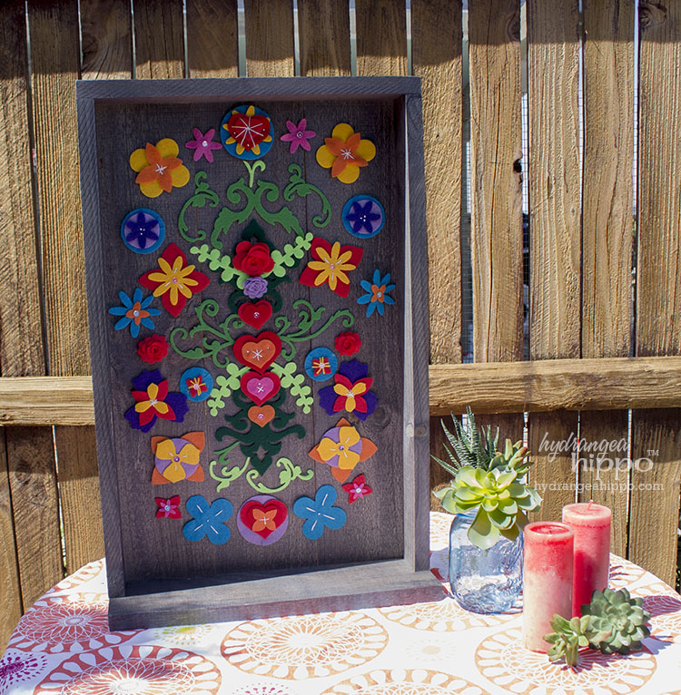 Mexican Garden Decor - Removable Felt Flower Collage ... on Mexican Backyard Decor  id=42465