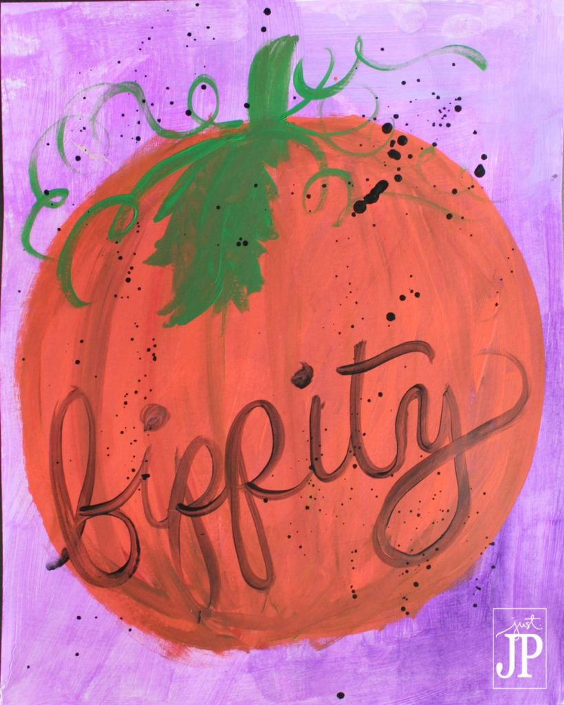 Cinderella Pumpkin Bippity - DISNEY Inspired - Painted by JPriest wm