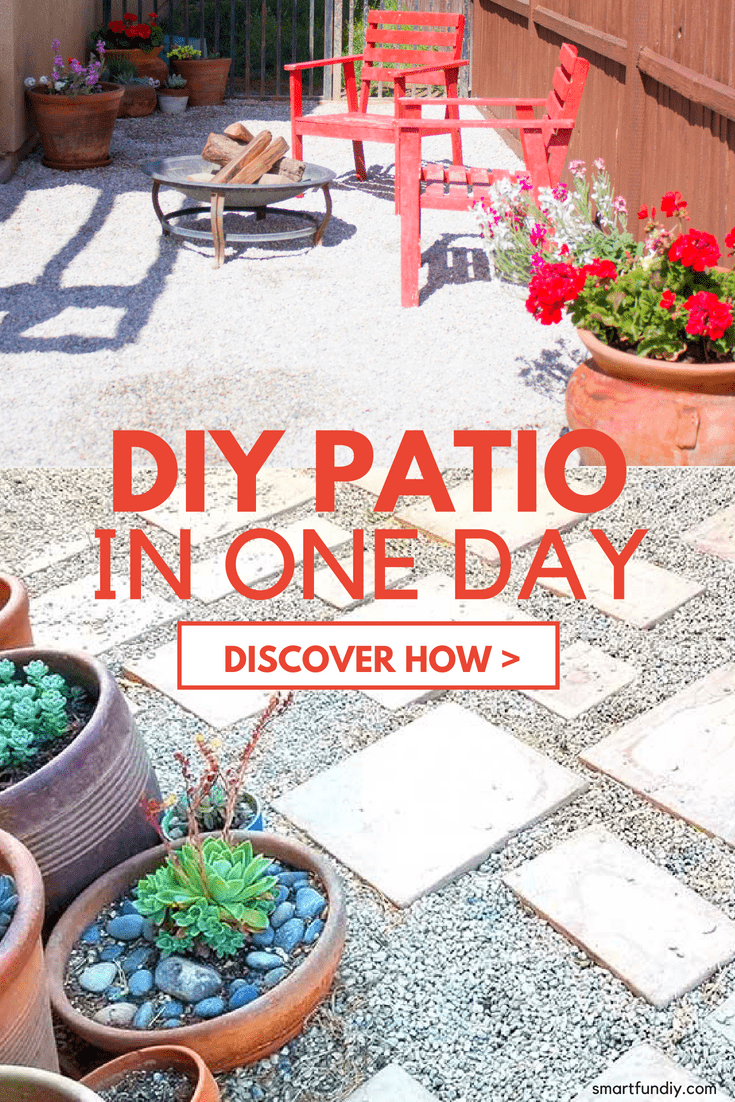 How to Make a Gravel Patio ... for under $200 in one weekend! on Backyard With Gravel Ideas id=39335