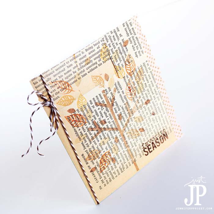 Book-page-Decoupage-Favorite-Season-Handmade-Greeting-Card-by-Jennifer-Priest