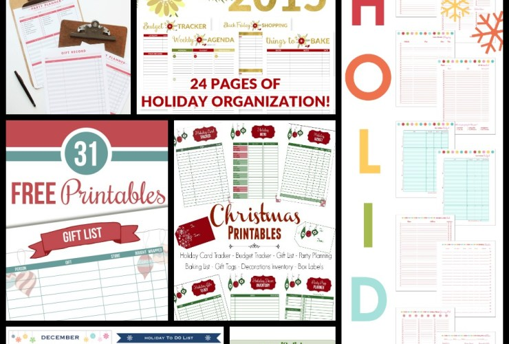 7 Printable Holiday Planners You NEED NOW + an HP Ink Sale #HPink