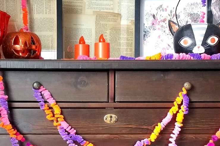 Crazy Easy DIY Garlands for Halloween #JPHalloween
