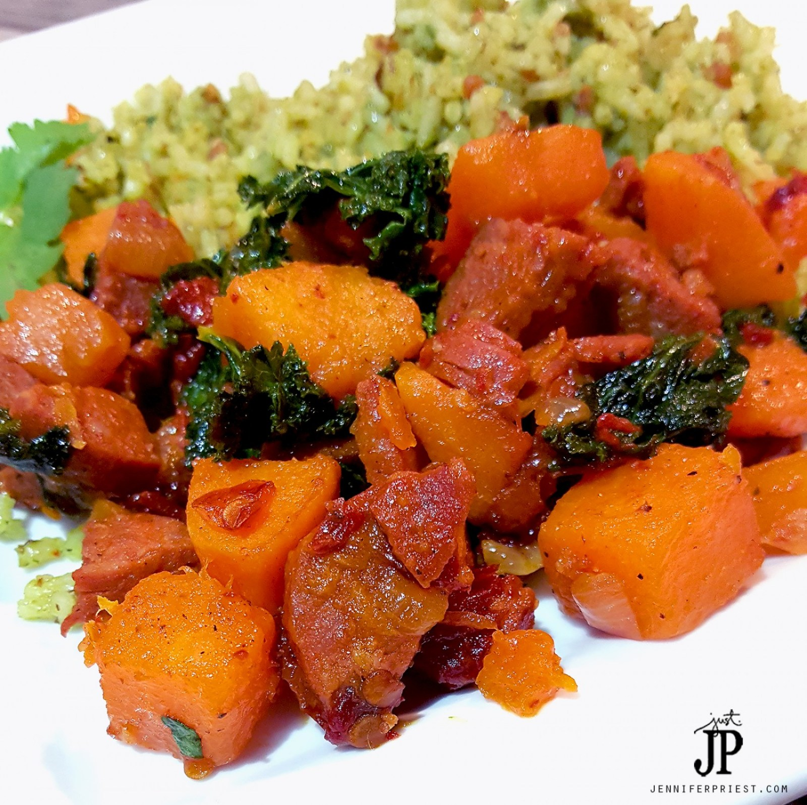 PALEO-Chorizo-Hash-with-Butternut-Squash-and-Kale-JPriest