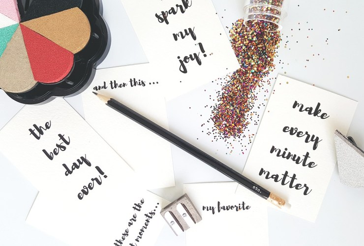 How to make brush lettering even if you don't know how to hand letter – National Scrapbook Day 2016 Blog Hop!