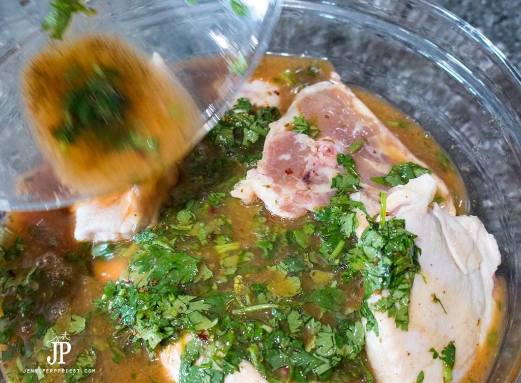 Pour-marinade-over-chicken-jenniferppriest