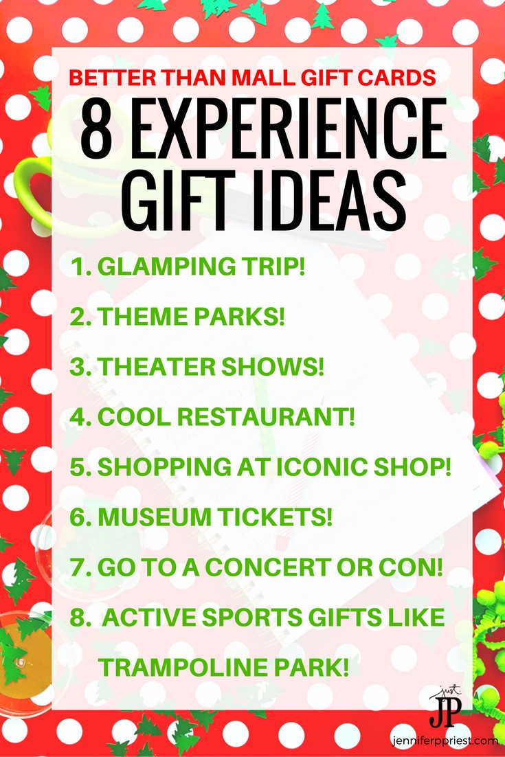 Experience Gifts 8 Unique Gift Card And Christmas Gift Ideas