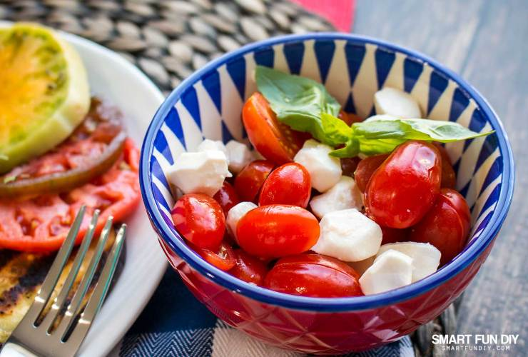 Grilled Eggplant and Heirloom Tomato Salad Recipe – A Mother's Day Lunch