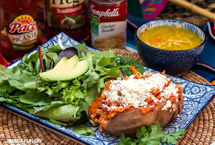 Mexican Baked Sweet Potatoes Recipe – 20 Minute Meal