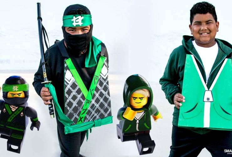 DIY LEGO NINJAGO Movie Costume – Reversible GREEN NINJA Lloyd Costume