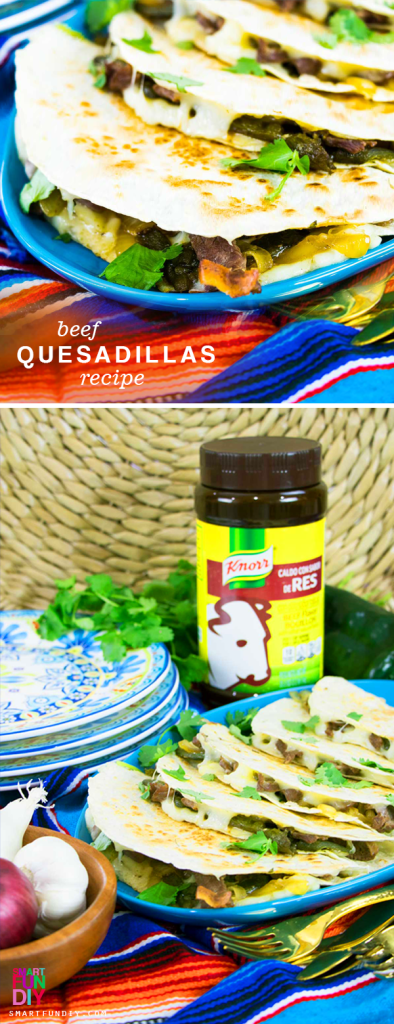 AD: The kids are gonna FLIP when you say that we're having Steak Quesadillas for dinner! Make this easy Beef and Poblano Quesadillas recipe in less than 30 minutes for dinner tonight https://www.smartfundiy.com/steak-quesadillas-recipe-poblano/ ... and save money too when you get FREE Guerrero tortillas with the purchase of Knorr bouillon at  Northgate González Markets starting TODAY through December 5, 2017 Share your dinner ideas with #AddMoreSabor #SmartFunDIY