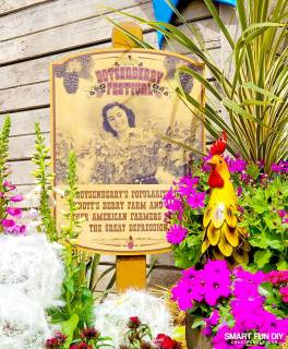 Sign and Decorations at Knott's Berry Farm Boysenberry Festival