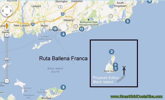 Ruta Migratoria Ballenas Francas Rhode Island Usa