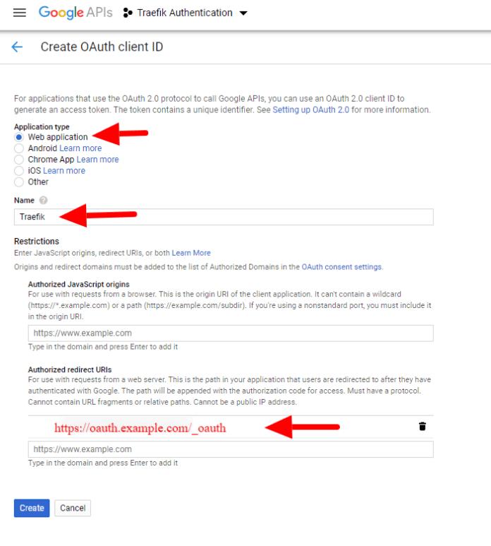 Creating OAuth Client ID