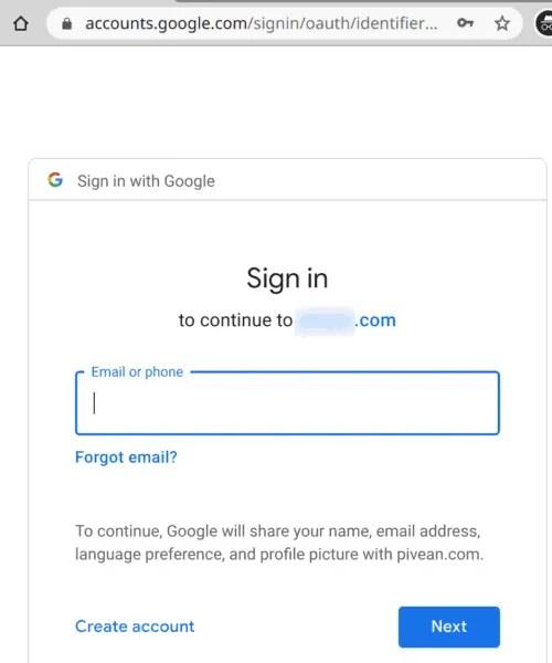 Google OAuth Login for Docker Services