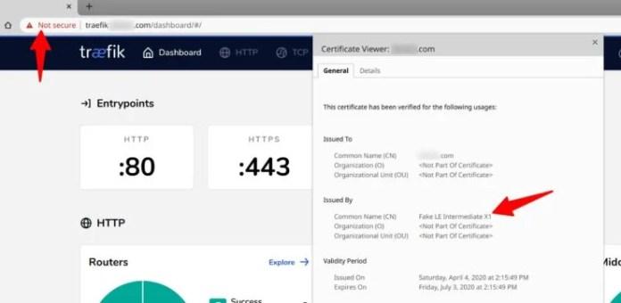 Traefik 2.0 Successful Staging Shows Fake LE Intermediate Certificate