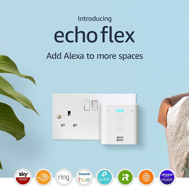 Echo Flex is a Smart Plug with Alexa Voice