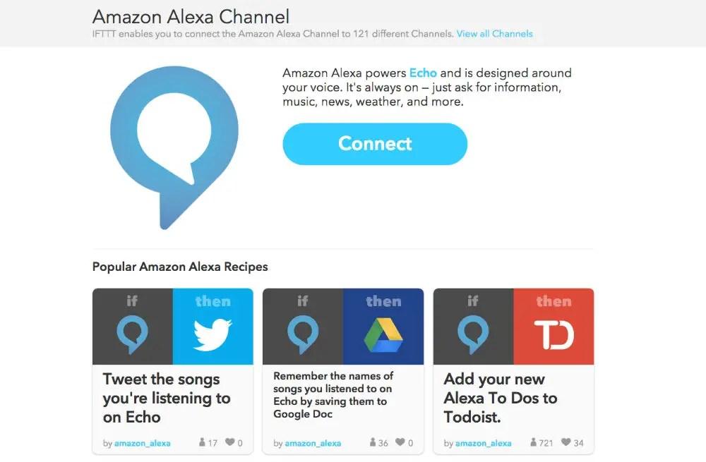Amazon Echo now has IFTTT support