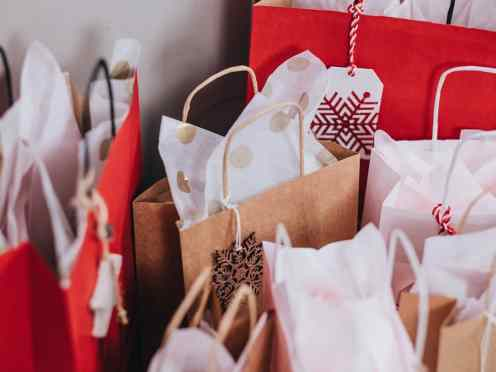 Holiday Sales 2020 shopping bags gifts