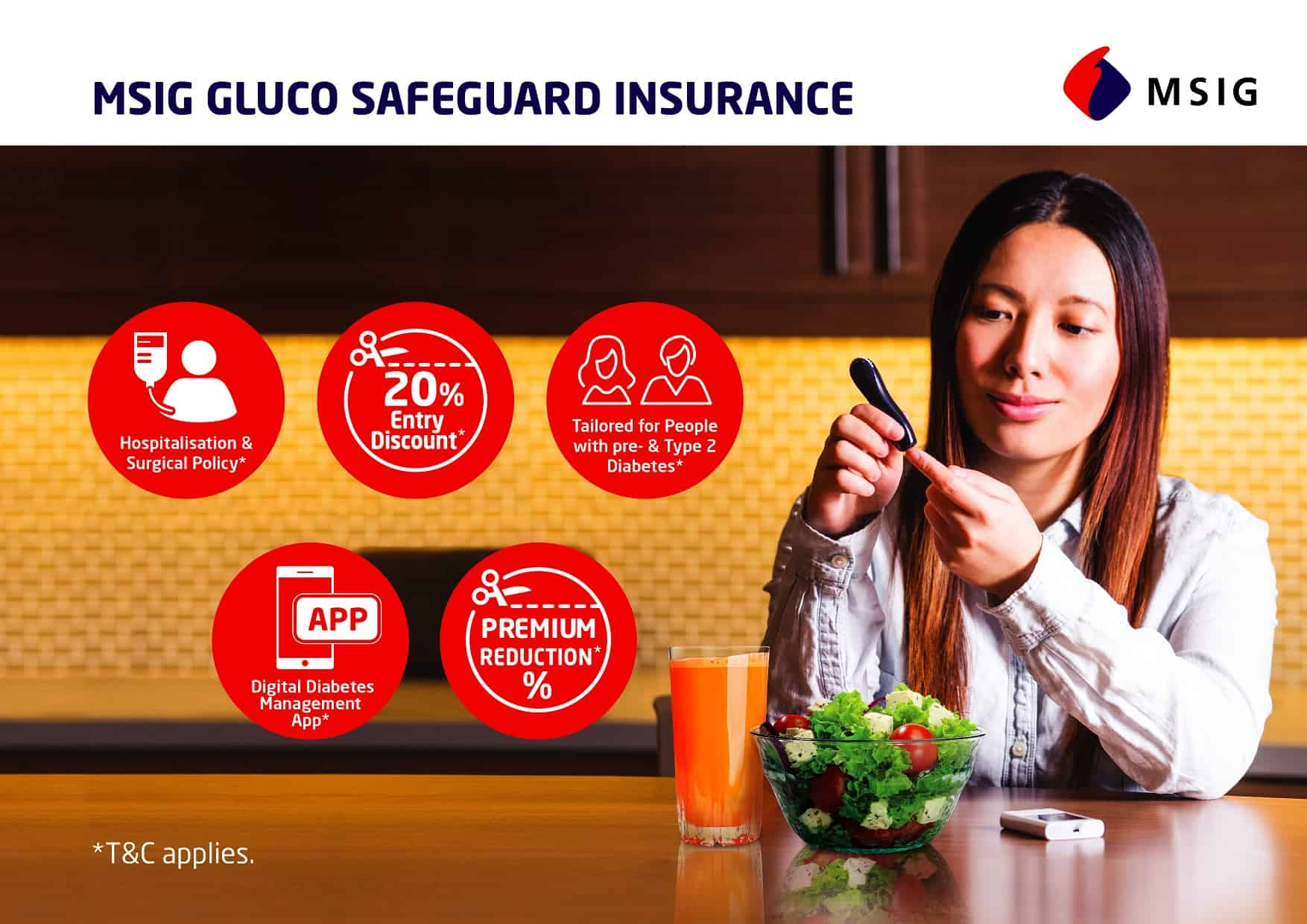 MSIG LAUNCHES GLUCO SAFEGUARD