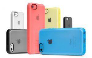 iPhone mobildekseler i ulike farger.