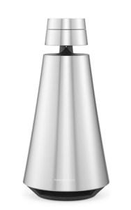 Beosound 1 er formet nesten som et sylinder, men er bredere nede enn oppe.