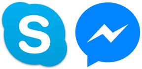 Ikon Skype og Messenger