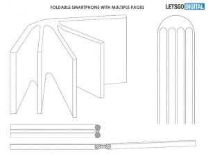 Enkel illustrasjon av fem skjermen sammenføyd langs en kant som en liten bok.