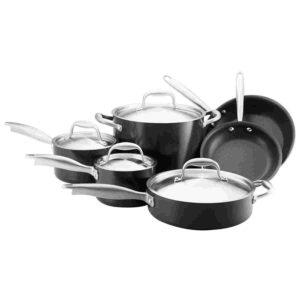 10-Piece Titanium Hard Anodized Nonstick Cookware set by Anolon Image