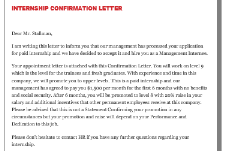 Free resignation letter confirmation letter format after probation feel free to download our modern editable and targeted templates cover letter templates resume templates business card template and much more thecheapjerseys Gallery