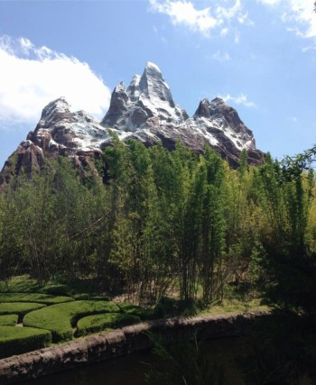 Expedition Everest from the outside.