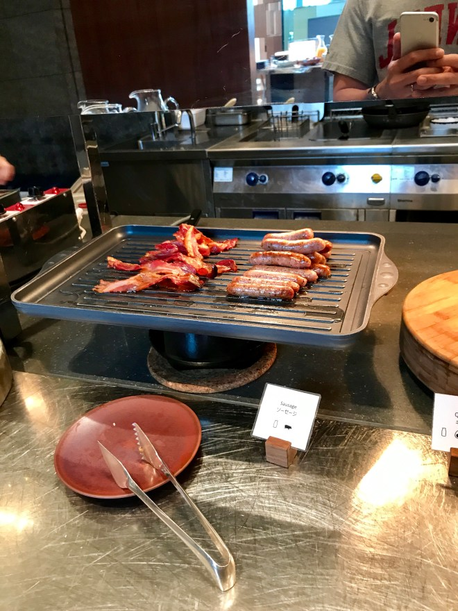 Andaz Tokyo Breakfast - Bacon and Sausage