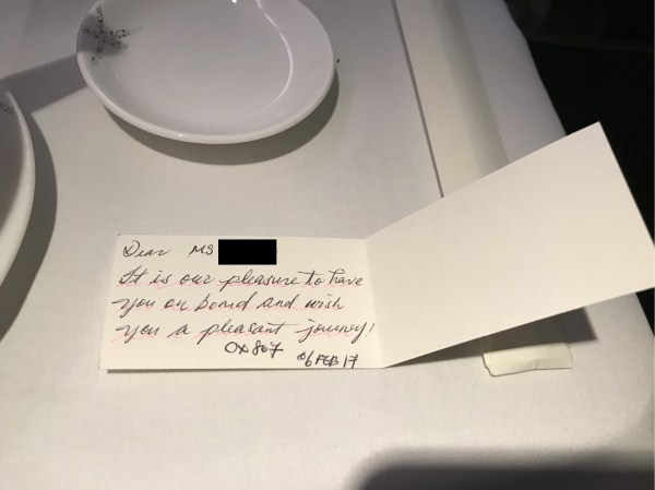 Cathay Welcome Note