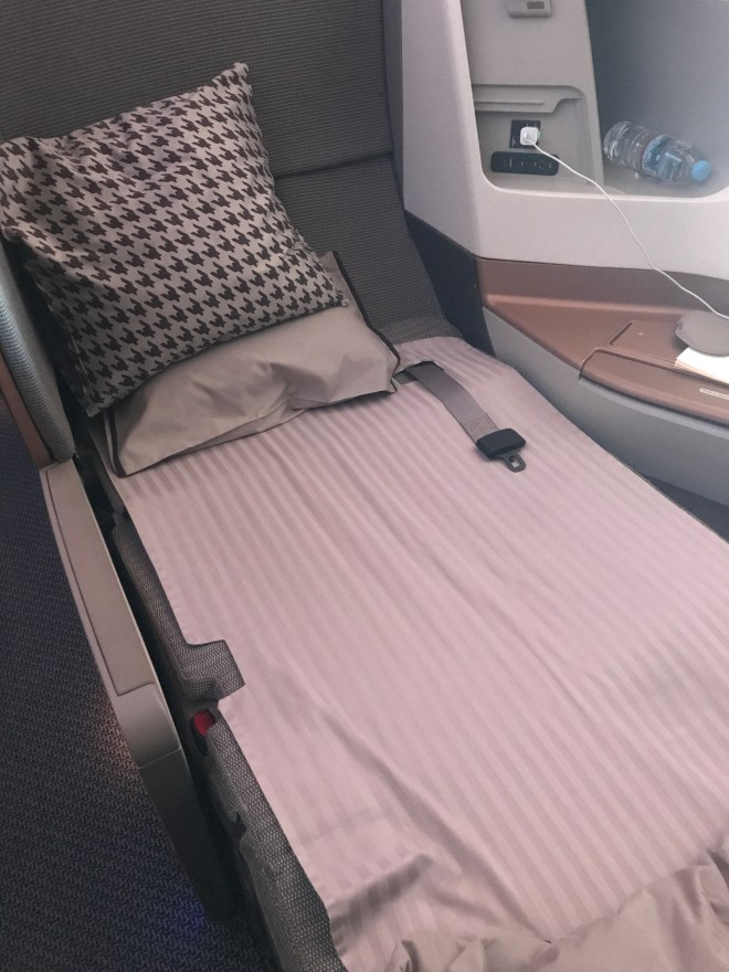 Singapore Airlines Business Class Bed
