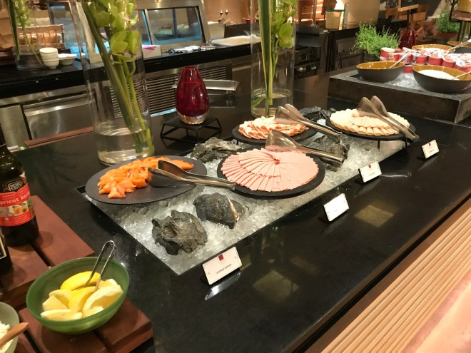 Conrad Singapore, Breakfast, Cold Cuts and Smoked Salmon