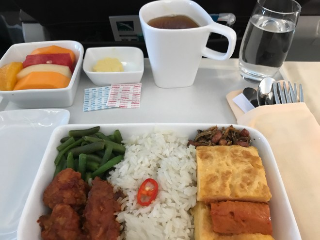 SilkAir Breakfast, Chicken and Rice