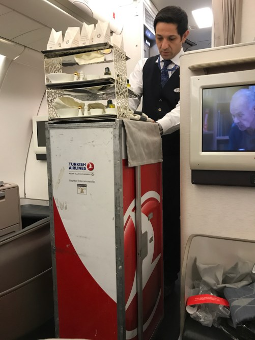 """Turkish Airlines, Passing out """"Candles"""""""