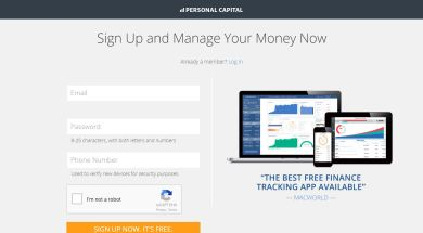 Personal Capital – Sign Up