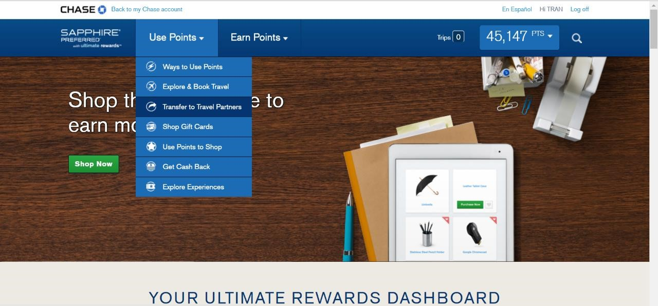How to transfer Chase UR Points to United (and other