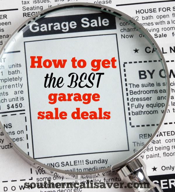 How to get the BEST Garage sale deals