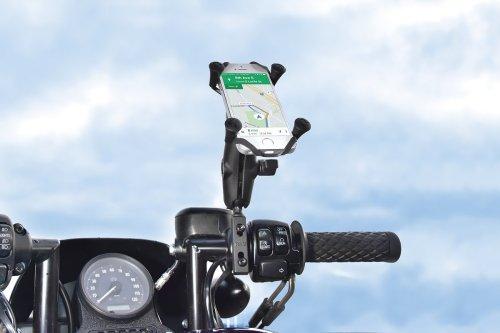 RAM Combination Brake/Clutch Reservoir U-Bolt Mount with Universal X-Grip Cell/iPhone Cradle