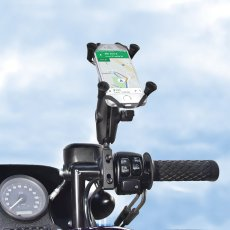 RAM Combination Brake/Clutch Reservoir U-Bolt Mount with Universal X-Grip Cell/iPhone Cradle
