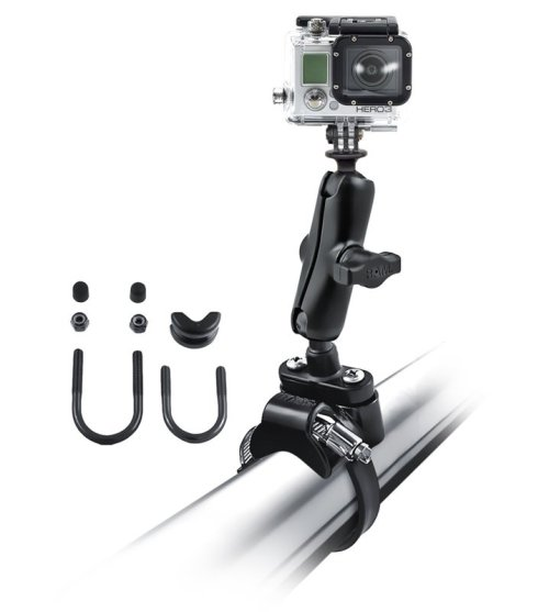 "AM Strap Clamp, Roll Bar Mount with 1"" Ball & Custom GoPro® Hero Adapter"