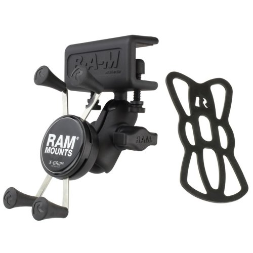 RAM Glare Shield Clamp Mount with Short Double Socket Arm & Universal X-Grip® Cell/iPhone Cradle