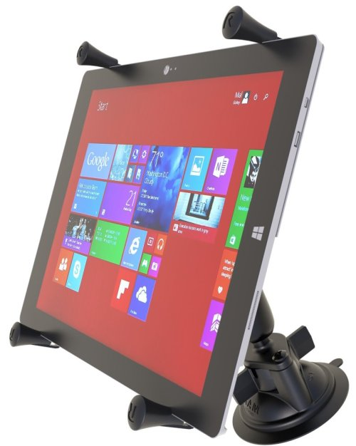 "RAM Twist-Lock™ Suction Cup Mount with Universal X-Grip® Cradle for 12"" Large Tablets"