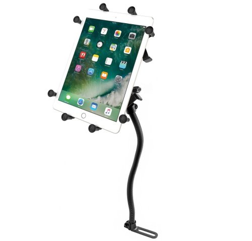 "RAM Pod No-Drill™ Vehicle Mount with Universal RAM® X-Grip® Cradle for 10"" Large Tablets"